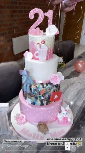 The beautiful cake was personalized with photos
