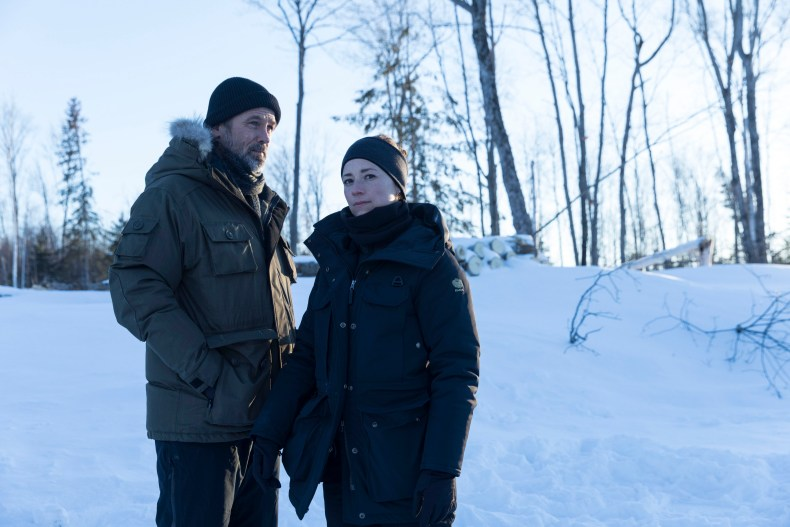 stars Billy Campbell as the titular John Cardinal while Karine Vanasse plays his police partner - and potential love interest - Lise Delorme