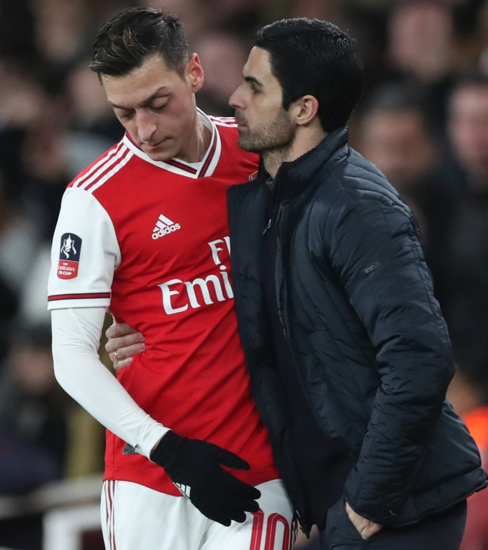 Mesut Ozil has not played since the restart after failing to impress Mikel Arteta