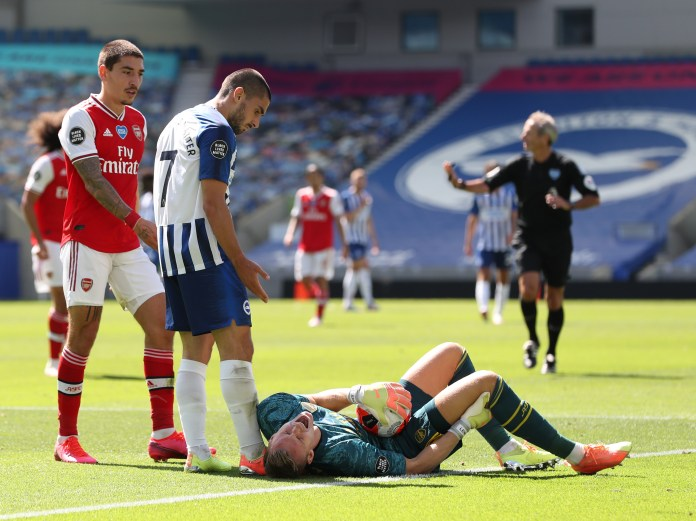 Brighton forward was heavily criticized by the Arsenal of players after a collision with Bernd Leno forced the goalkeeper to be evacuated on a stretcher