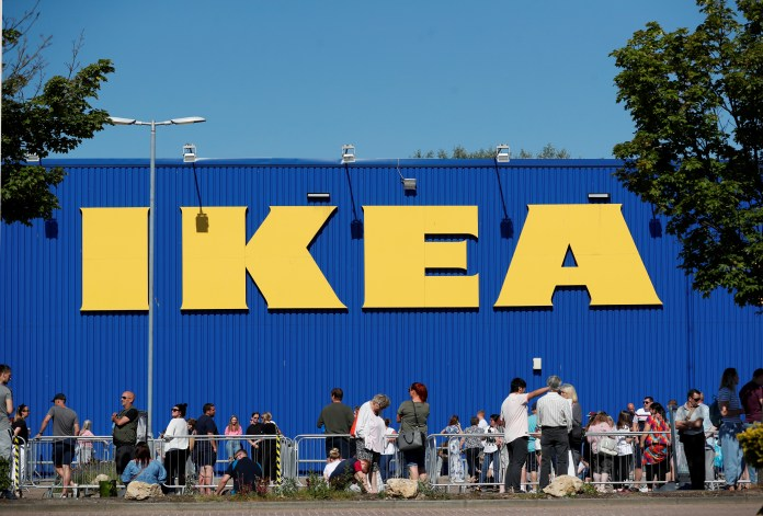Ikea buyers line up big lines at Tottenham this morning