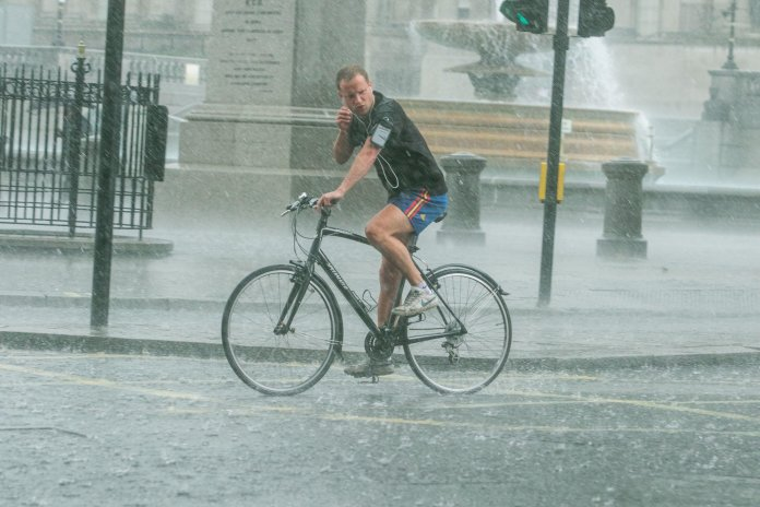 Londoners were freaked out by the rain on Wednesday afternoon