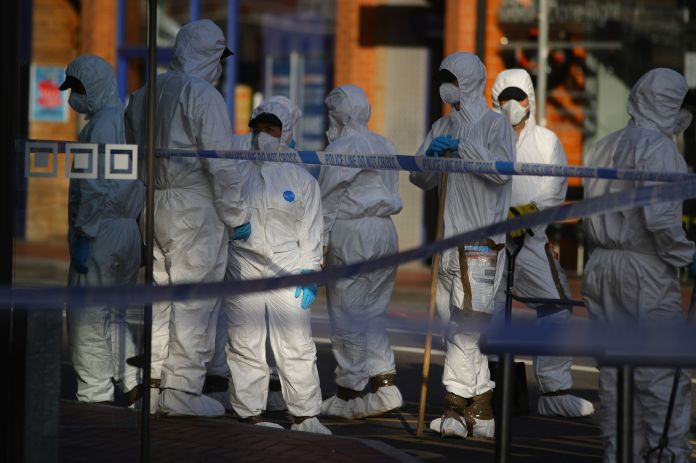 Forensics are at the scene in Reading that the investigation was launched