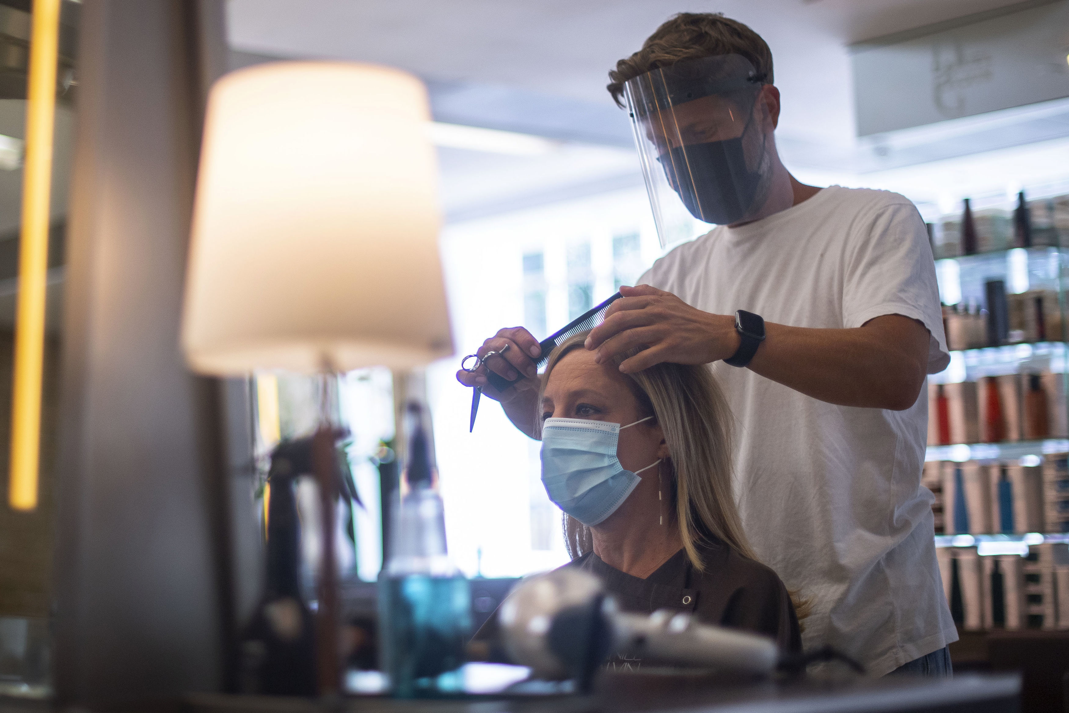 Staff will wear face masks and may ask customers to wear a mask too
