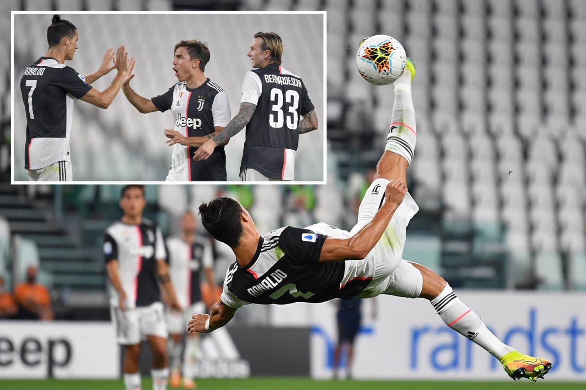 Juventus 4 Lecce 0 Cristiano Ronaldo With Penalty And