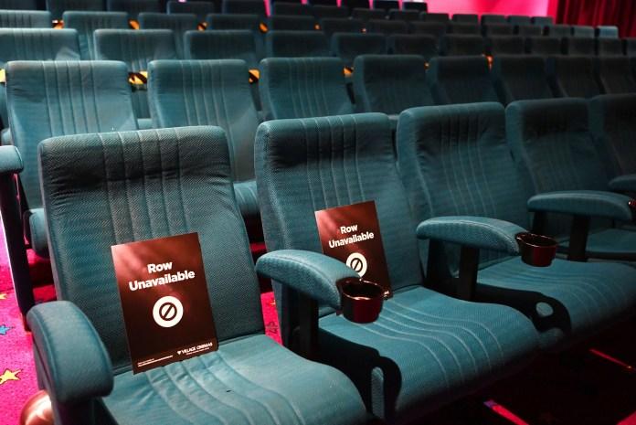 Social distance measurements in a Victoria cinema