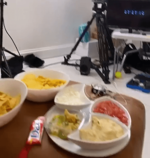 We also got a glimpse of all the snacks planned for the celebrity couple