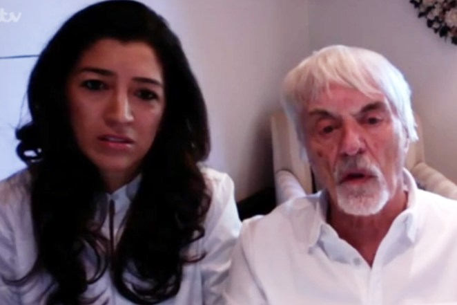 Bernie and his wife Fabiana appeared on This Morning today
