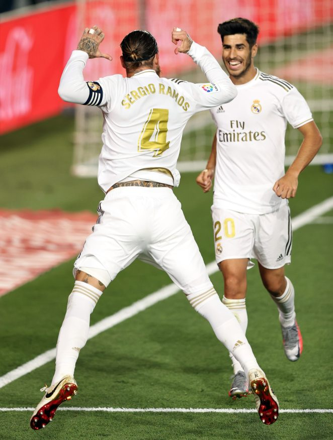 The captain celebrated in style as Real Madrid capitalised on Barcelona drawing back-to-back games