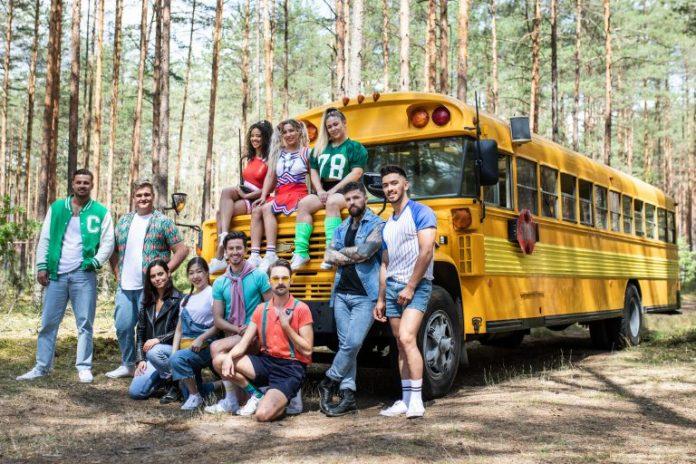 Carl also appeared on ITV2 Killer Camp in 2018 (far left)