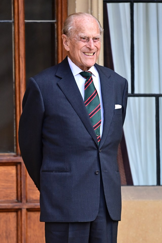 Prince Philip beamed as he stepped out of retirement for the ceremony