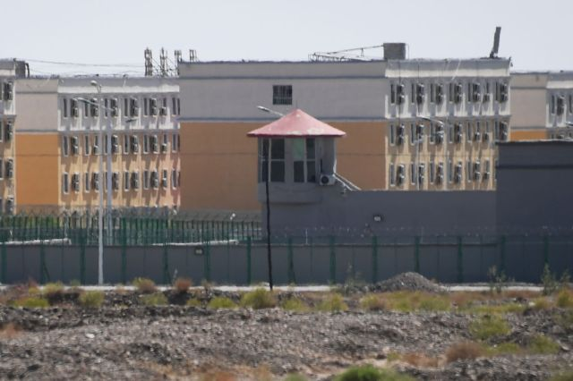 An 'education and training' centre in Xinjiang believed to be a detention camp