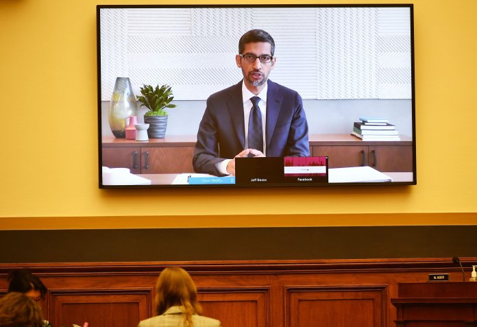 The news comes days after Google's Sundar Puchai and other tech executives testified before the US Congress on abuse of power allegations