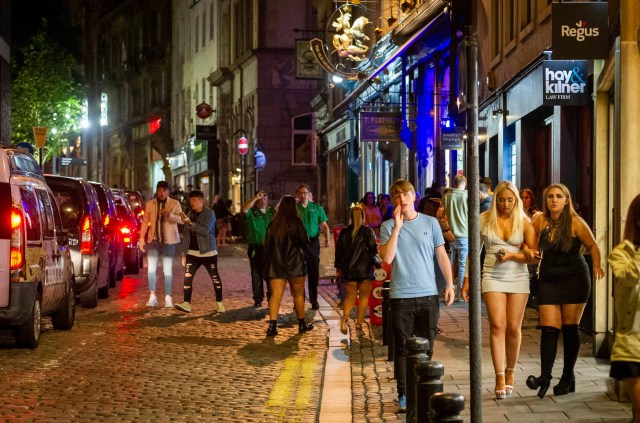 The streets of Newcastle were busy with party-goers