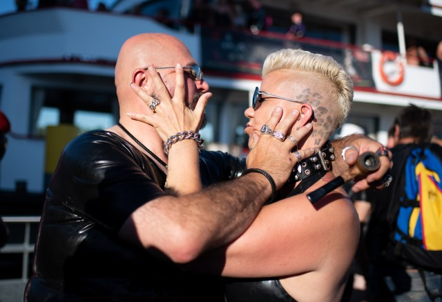 The trip attracts many couples who share a passion for leather and bondage