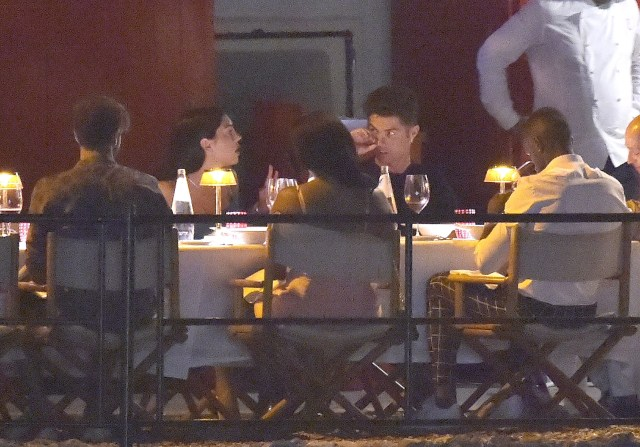 Cristiano Ronaldo and his partner were joined by friends for dinner