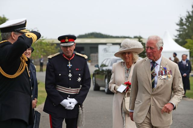 The Prince of Wales and the Duchess of Cornwall at the National Memorial Arboretum in Alrewas, Staffordshire
