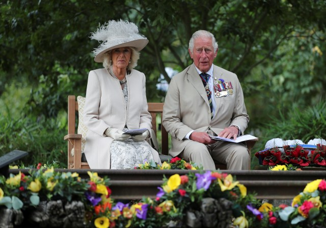 Prince Charles and Camilla attend the VJ Day event at the National Memorial Arboretum in Staffordshire