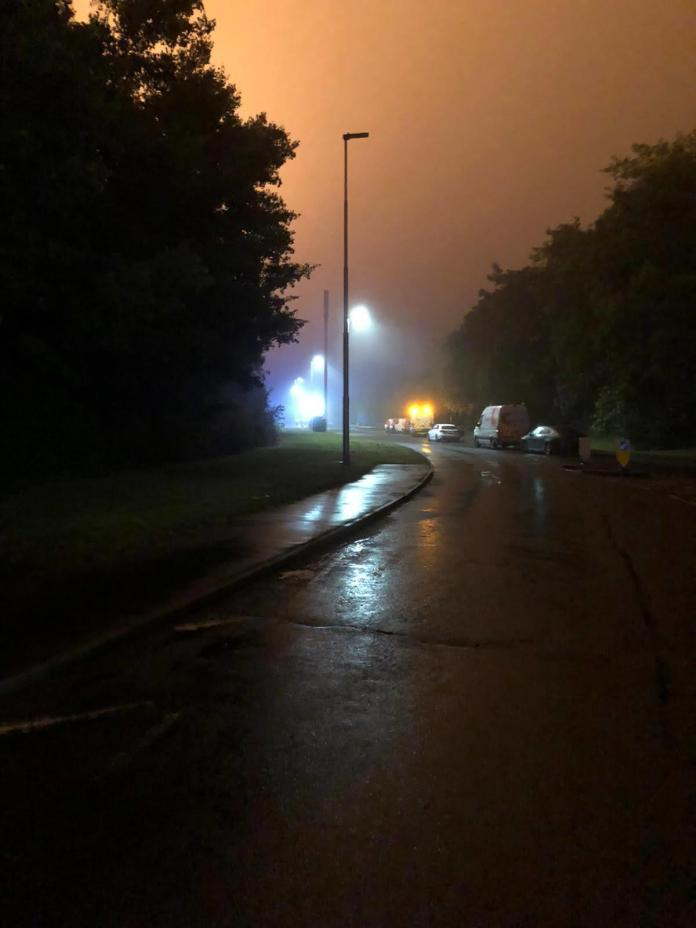 A cordon remains in place at the scene and several properties have been evacuated