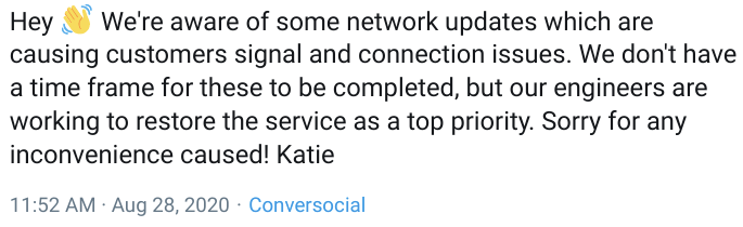 Vodafone has confirmed it is looking into the issue