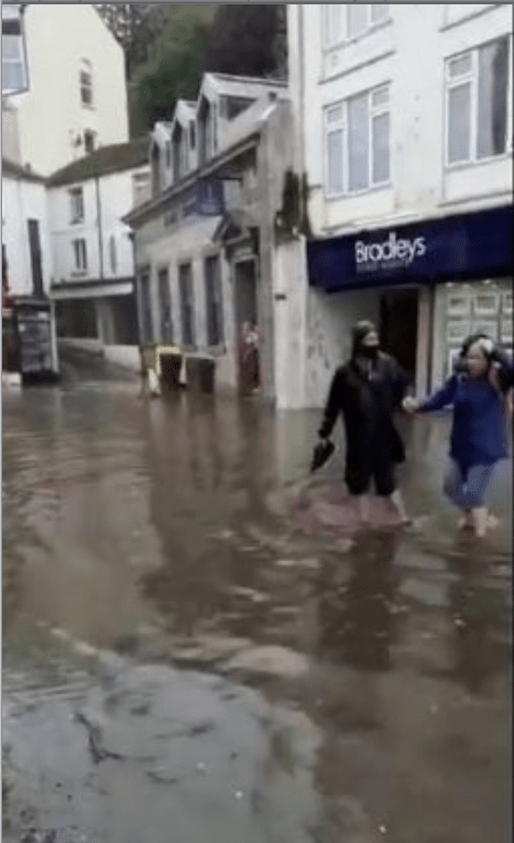 But bad weather has caused problems in the southwest - with deep flooding on Looe's main street among the problems