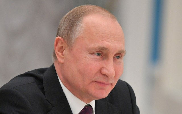 Vladimir Putin boasted about his new ultra-modern weaponry on Russia's Navy Day last month