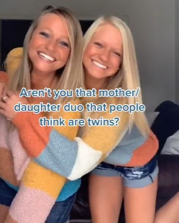 Stacie Smith, 41, and her 16-year-old daughter Madison are mistaken for twins online