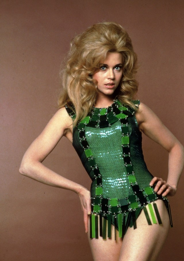 Jane's role in the 1968 cult classic film Barbarella turned her into a bona fide bombshell