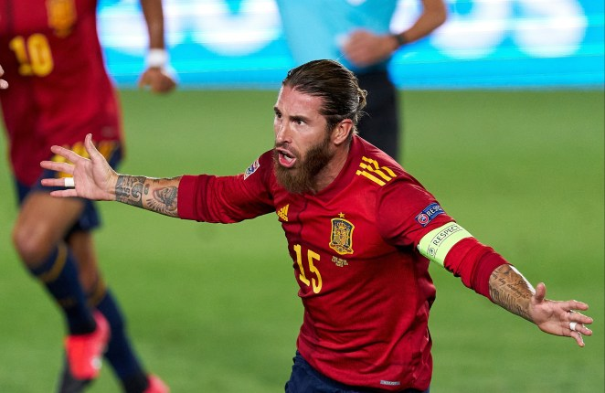 Real Madrid captain Sergio Ramos notched a double