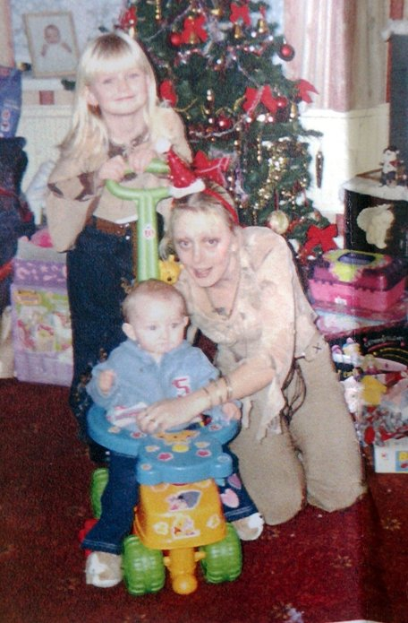 Louise L'Homme and her baby daughter Tia, middle. were strangled to death by Roberts