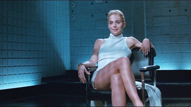 It's similar to the scene from Basic Instinct - but a lot more modest