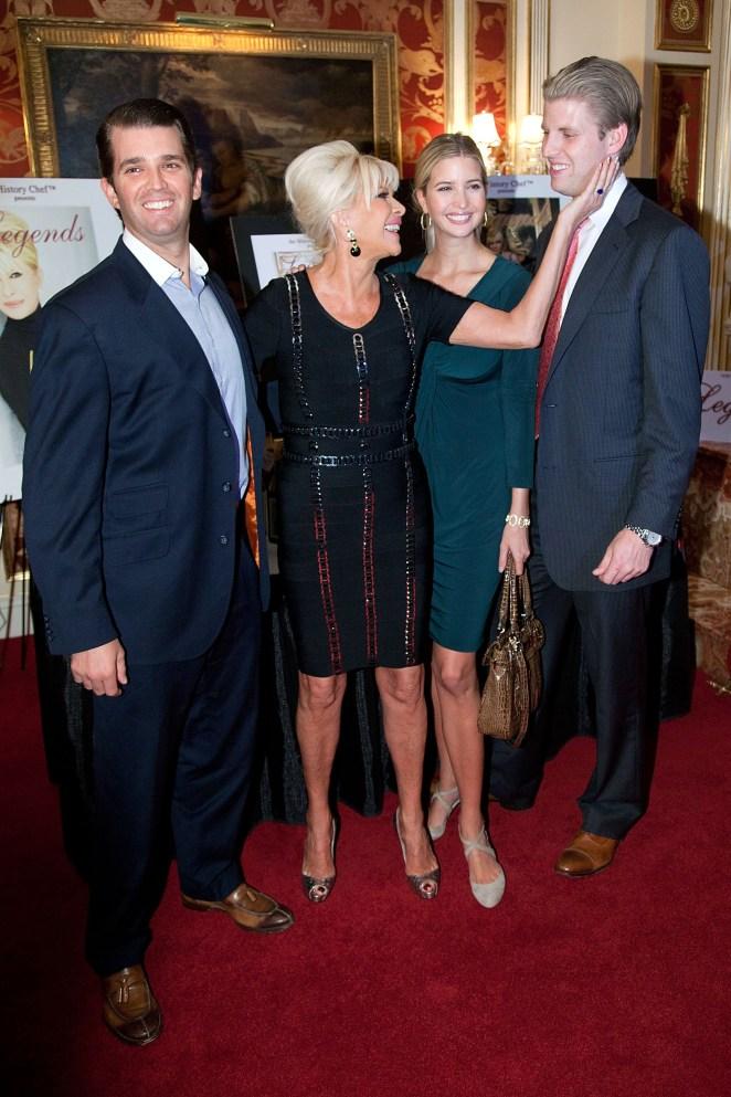 Ivana and Donald share three children - Eric, Ivanka and Don Jr