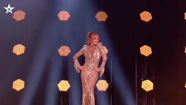 Amanda's stunning gown on Britain's Got Talent