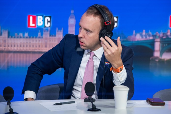 Speaking on LBC this morning Matt Hancock insisted that people must follow social distancing rules