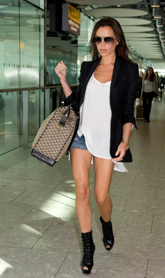 Victoria Beckham's legs are long compared to her body