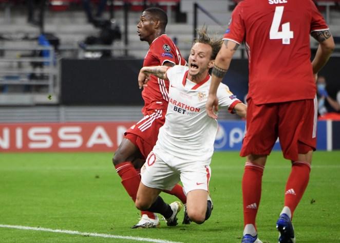 Premier League referee Anthony Taylor penalised David Alaba for body-checking Ivan Rakitic
