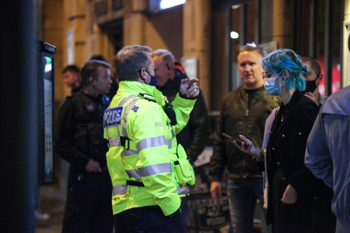 Police have been called to disperse crowds in Nottingham