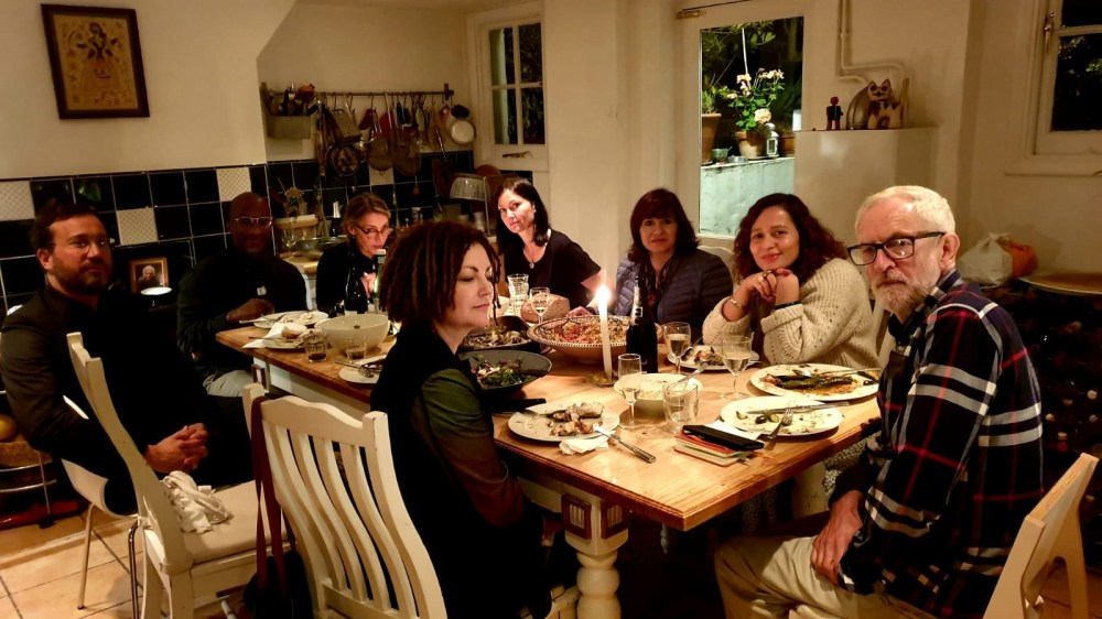 Jeremy Corbyn was photographed at a dinner party for nine - a clear breach of the 'rule of six'