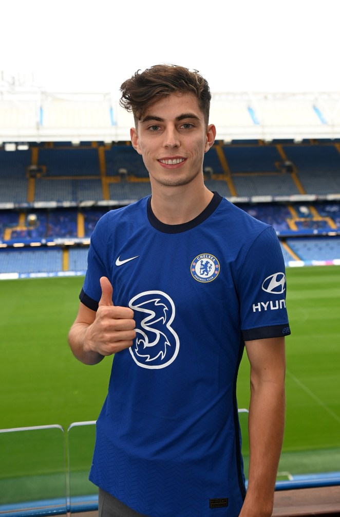 Kai Havertz has penned a five-year deal at Chelsea after joining from Bayer Leverkusen