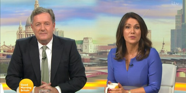 Piers Morgan mocked the Duchess of Sussex's pleas for privacy on Good Morning Britain today