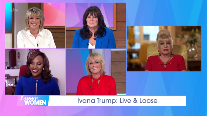 She got up in the small hours to appear as a guest on Loose Women today