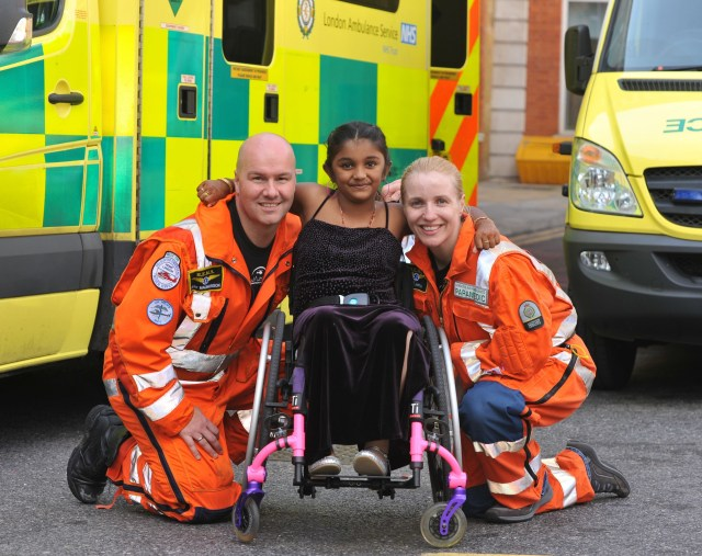 Thusha was left paralysed when she was shot in the chest