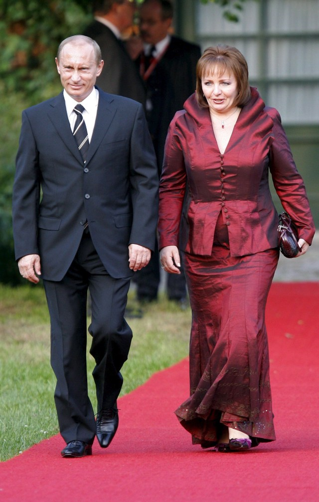Putin and Lyudmila before their split in 2014