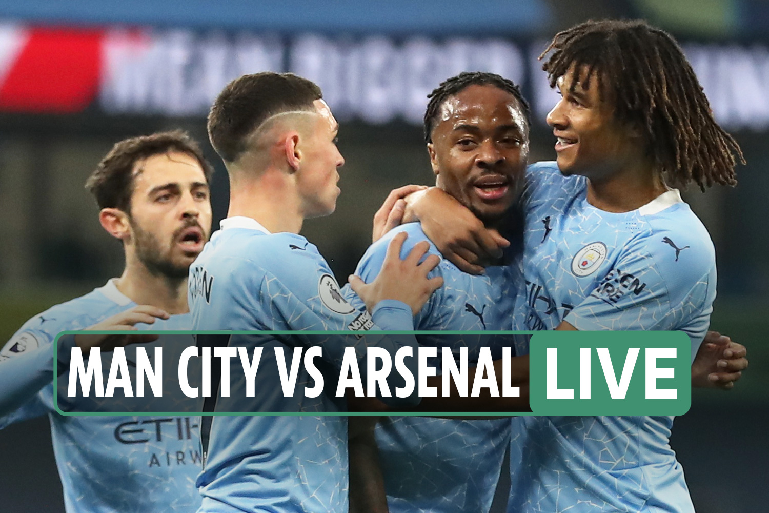 Man City vs Arsenal LIVE: Stream, TV channel, score – Saka goes close after Sterling puts City in front at the Etihad