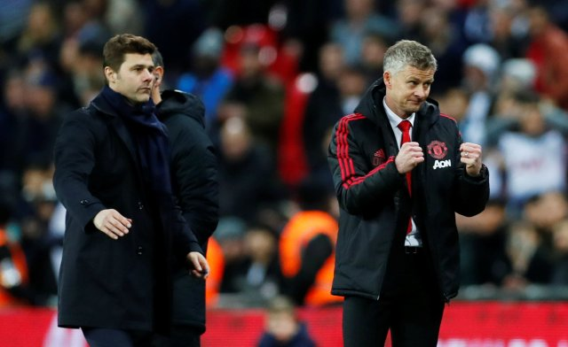 Mauricio Pochettino (left) is the favourite to replace the under-fire Ole Gunnar Solskjaer (right)