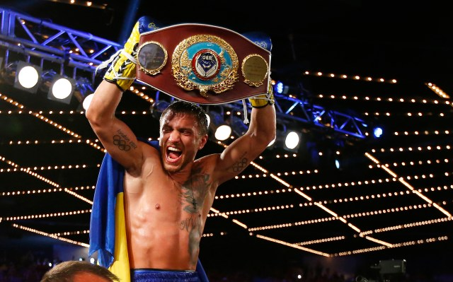 Vasyl Lomachenko currently holds the WBO, WBA and The Ring lightweight titles