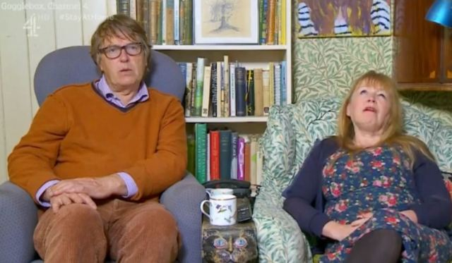 Giles Wood and Mary Killen star on Channel 4's Gogglebox