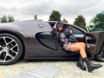Georgina Rodriguez poses in Cristiano Ronaldo's £1.7million Bugatti in special nod to Portugal's Euro 2016 success