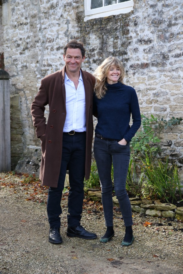 Dominic West and wife Catherine put on a united front at their home