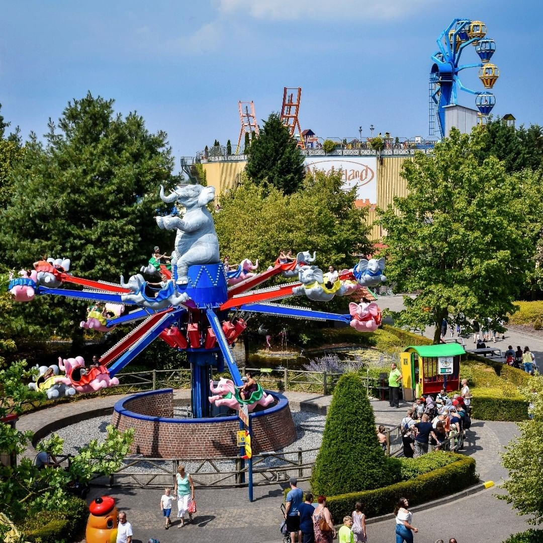 There are more than 40 rides to choose from inside the park